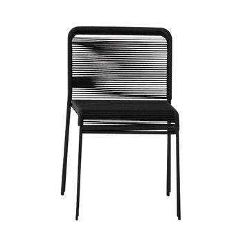 la palma - Aria Stuhl stapelbar - schwarz/Gestell schwarz