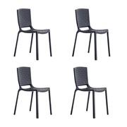 Pedrali - Set de 4 chaises de jardin Tatami 305