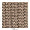 Kettal - Bitta Gartenstuhl / Armlehnstuhl - wet sand/braun/Stoff 287 wet sand laminate/Band 450 braun/Gestell aluminium 726 mangan