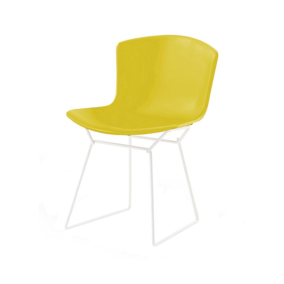 Bertoia Plastic Side Chair White Knoll International