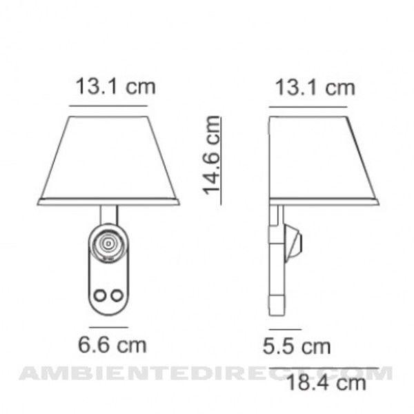Bett strichzeichnung  Choose Parete Wall Lamp | Artemide | AmbienteDirect.com