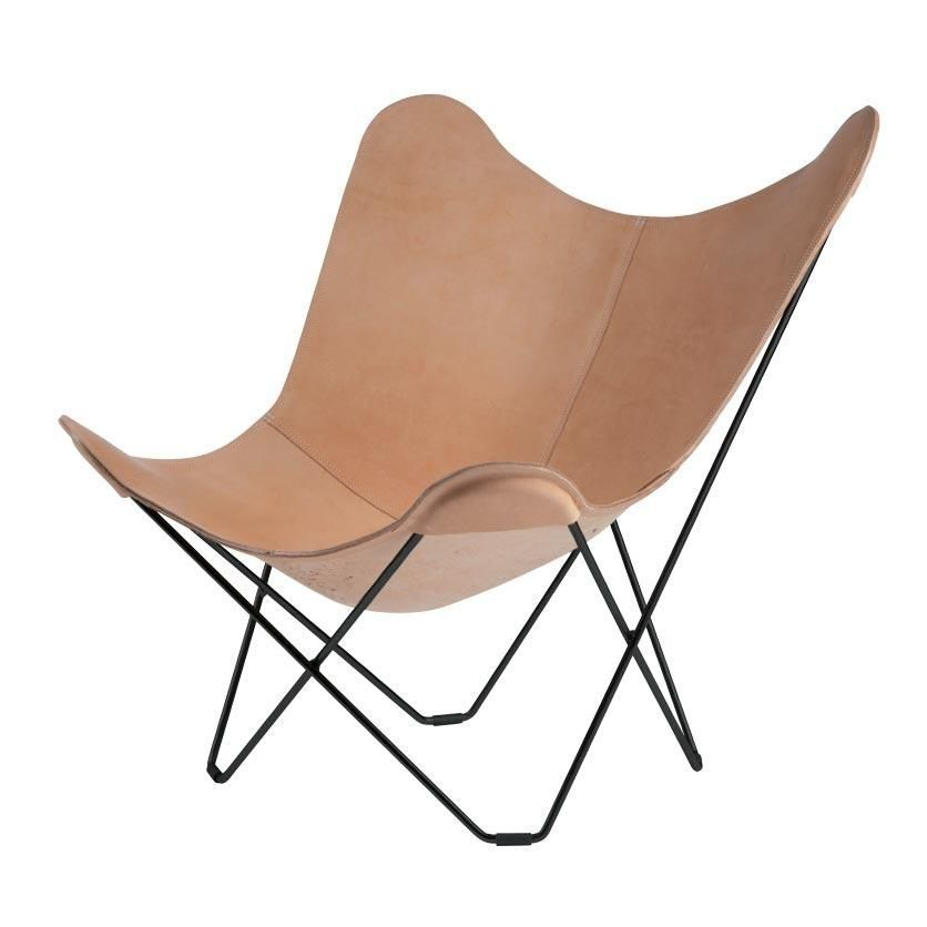Butterfly Chair In Grauem : Pampa mariposa butterfly chair cuero ambientedirect