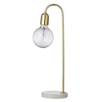 Bloomingville - Bloomingville Tischleuchte Marmor/Messing - gold/grau/Ø15 x H:55cm