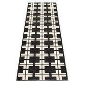 pappelina - Klas Teppich 70x160cm - schwarz/vanille
