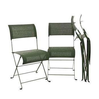 Fermob - Dune Folding Chair 4-piece Set - cedar green/lacquered/4 pieces