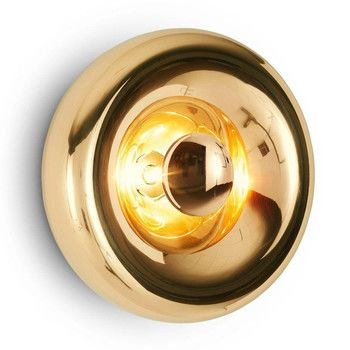 - Void Surface Light Wandleuchte - messing/poliert/H 17.7cm/Ø 30cm