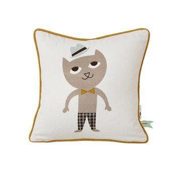 ferm LIVING - Cat Kinderkissen 30x30cm - multicolor/waschbar bei 30°C