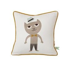 ferm LIVING - Cat Kinderkissen 30x30cm