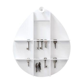 RiZZ - The Cabinet Schlüsselschrank - weiß/matt/kombinierbar mit The Egg Wandspiegel