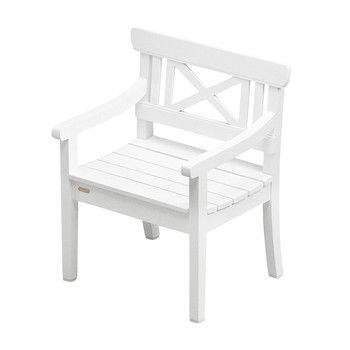 Skagerak - Drachmann Gartenstuhl / Armlehnstuhl - weiß/lackiert