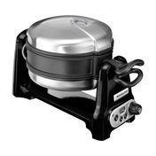 KitchenAid - Artisan 5KWB100 Waffle Iron - black/stainless steel