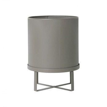 ferm LIVING - ferm LIVING Bau Pot Blumentopf L - grau/lackiert/H: 38cm Ø: 28cm