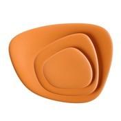 Kartell - Namasté Teller-Set 3tlg. - orange/Teller 1: 20x1x19cm/Teller 2: 27x1,4x26cm/Teller 3: 45x2x36cm