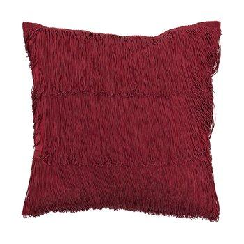 Bloomingville - Charleston Kissen 40x40cm - rot/Baumwolle/Füllung: Polyester