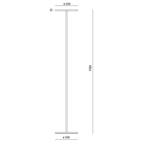 Artemide - Athena LED Stehleuchte H:178cm - Strichzeichnung