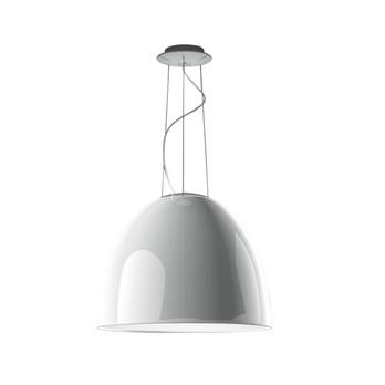 Artemide - Nur Gloss HALO Pendelleuchte - weiß/poliert/H 43cm/Ø 55cm