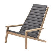 Skagerak - Between Lines Sitzkissen - kohle/ohne Liegestuhl/LxBxH 93x61x5cm