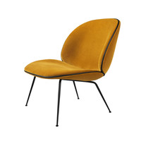 Gubi - Beetle Lounge Chair Velvet Black Base