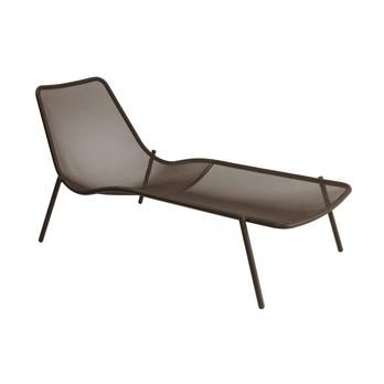 emu - Round Gartenliege - indischbraun/pulverbeschichtet/LxBxH 78x160x77cm