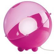 Koziol - Koziol Orion Bodenleuchte - pink/transparent/Ø30.5cm