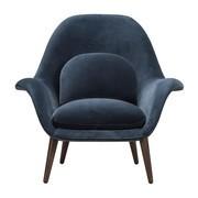 Fredericia - fauteuil Swoon pieds de chêne fumé