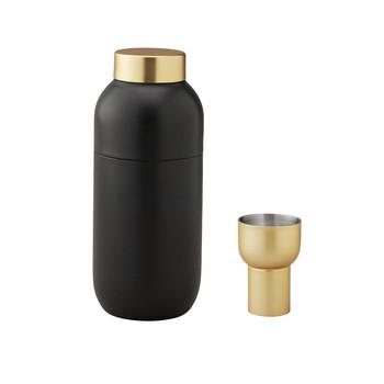 - Collar Cocktail Shaker + Messbecher - schwarz/gold/Shaker: 500ml, H 20cm, Ø 8cm/Messbecher: 2cl & 4cl