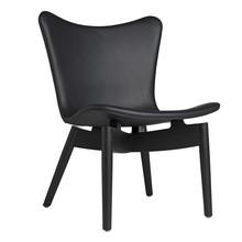 Mater - Shell lounge fauteuil eiken zwart