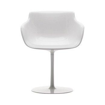 MDF Italia - Flow Armlehnstuhl Tellerfuß - weiß/glänzend/Gestell weiß lackiert/Nur noch wenige im Bestand!