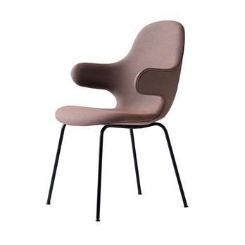 &tradition - Catch Chair JH15 Stuhl - rosa/Stoff Steelcut Trio 2 325/BxHxT 58x90x58cm/Gestell schwarz: pulverbeschichtet