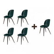 Gubi - Aktionsset 4+1 Beetle Dining Chair Geräuchert