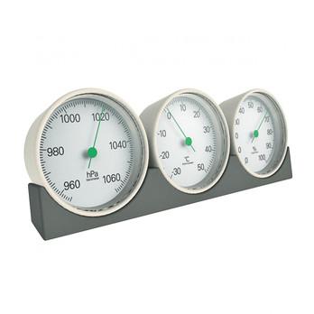 Magis - Meteo Wetterstation - weiß/Ablage: grau/L x B: 19 x 6,5cm/Thermometer/Luftfeuchtigkeitsmesser ,Luftdruckmesser