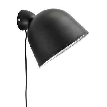 Woud - Kuppi Wandleuchte - schwarz/lackiert/H 16cm/Ø 22cm
