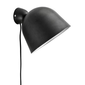 - Kuppi Wandleuchte - schwarz/lackiert/H 16cm/Ø 22cm