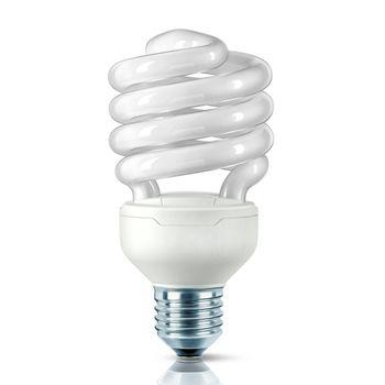 QualityLight - FLUO E27 Tornado 23W 827 - opal/Glas/Energieeffizienzklasse a/Gewichteter Energieverbrauch 23 kW/1000 h