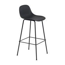 Muuto - Fiber Bar Stool With Backrest 75cm