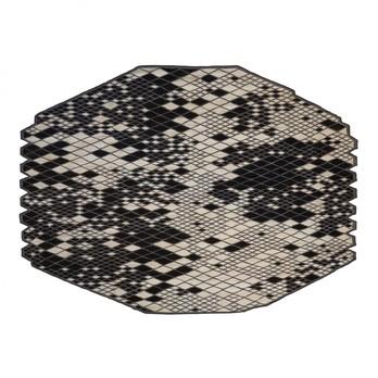 Nanimarquina - Losanges II Teppich - schwarz/weiß/afghanische Wolle/290x410cm