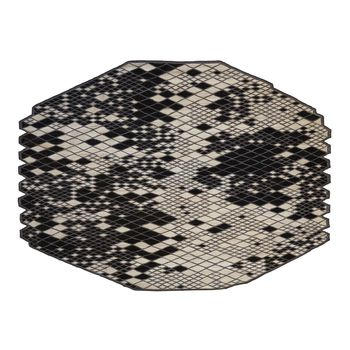 Nanimarquina - Losanges Teppich - schwarz/weiß/afghanische Wolle/290x410cm