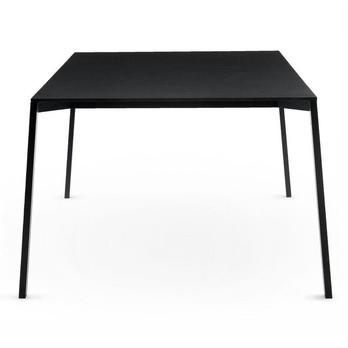 Magis - Table One Outdoor Tisch - schwarz/Aluminium/Größe 1/100x100cm