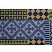 GAN - Kilim Siracusa - Alfombra - azul/verde/negro/Talla 1/150x200cm