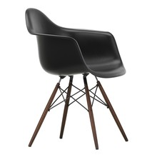 Vitra - Chaise avec accoudoirs Eames DAW érable foncé