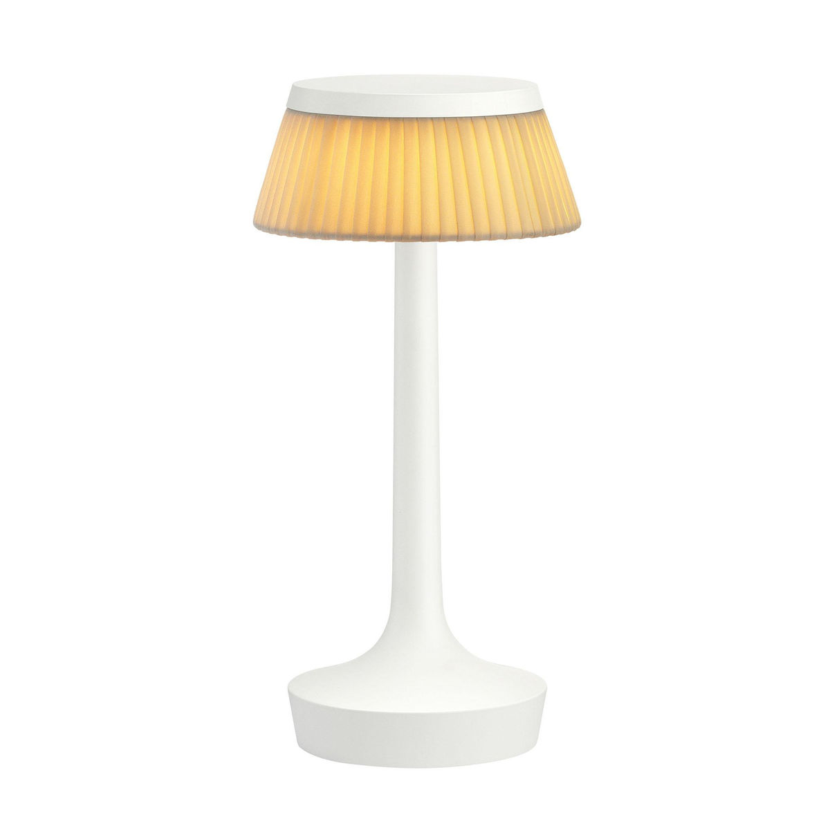 Bon jour unplugged led table lamp white flos ambientedirect flos bon jour unplugged led table lamp white geotapseo Images