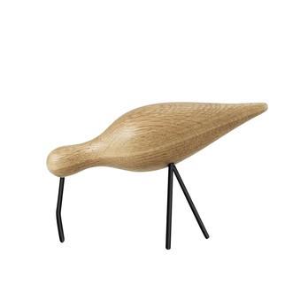 Normann Copenhagen - Shorebird Figur - eiche/Füße, Schnabel schwarz/H x L x B: 15 x 22 x 6.5cm