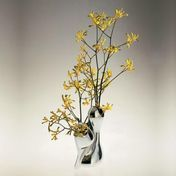 Alessi - Babyboop Blumenvase - glänzend poliert/Edelstahl