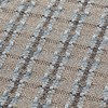 GAN - Garden Layers Checks Teppich 90x200cm - blau/Handwebstuhl