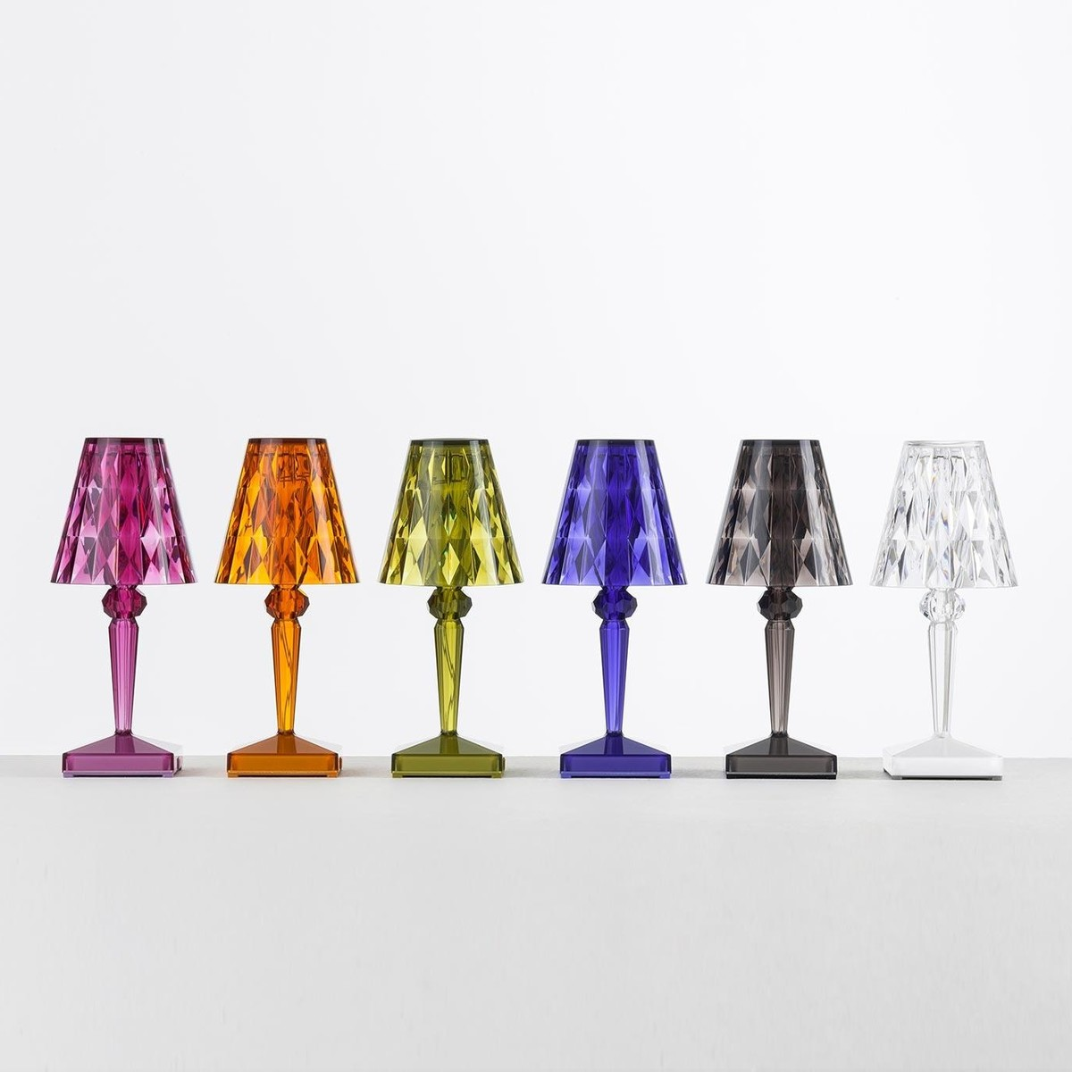 Lampe De Chevet Kartell Bourgie Table Lamp Crystal By