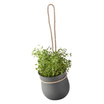 - GROW-IT Kräutertopf - grau/H: 13 x Ø 13 cm