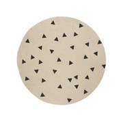 ferm LIVING - Jute Black Triangles - Tapis petit