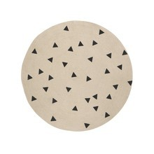 ferm LIVING - Jute Black Triangles Teppich