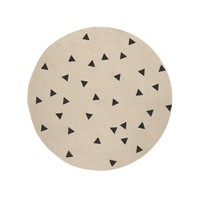 ferm LIVING - Jute Black Triangles Carpet