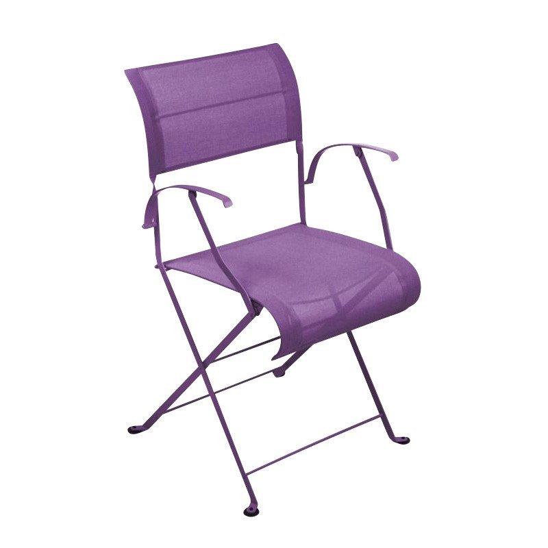 ... Fermob   Dune Folding Chair   Aubergine/lacquered/with Armrest/net  Mottled ...